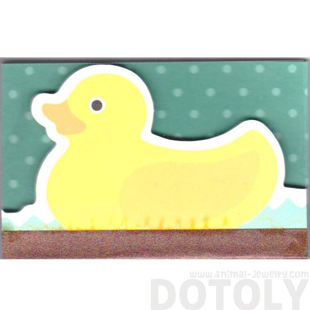 Cute Yellow Rubber Ducky Animal Shaped Memo Lined Notepad | 80 Pages