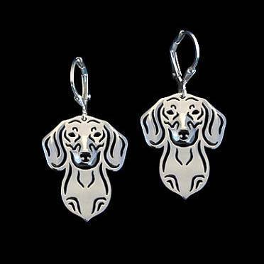 Cute Dachshund Puppy Face Shaped Drop Dangle Earrings