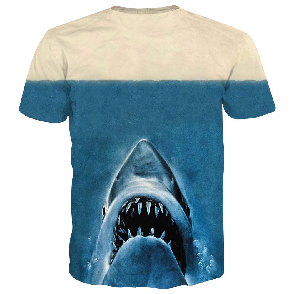 Deadpool Great White Shark Jaws Parody Poster Graphic Print T-Shirt