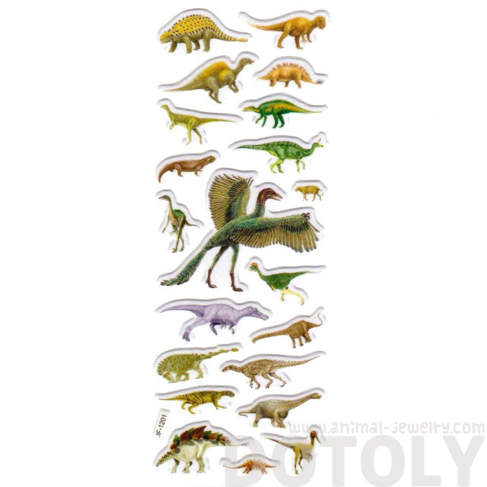 Dinosaur Microraptor Stegosaurus Shaped Prehistoric Animal Stickers