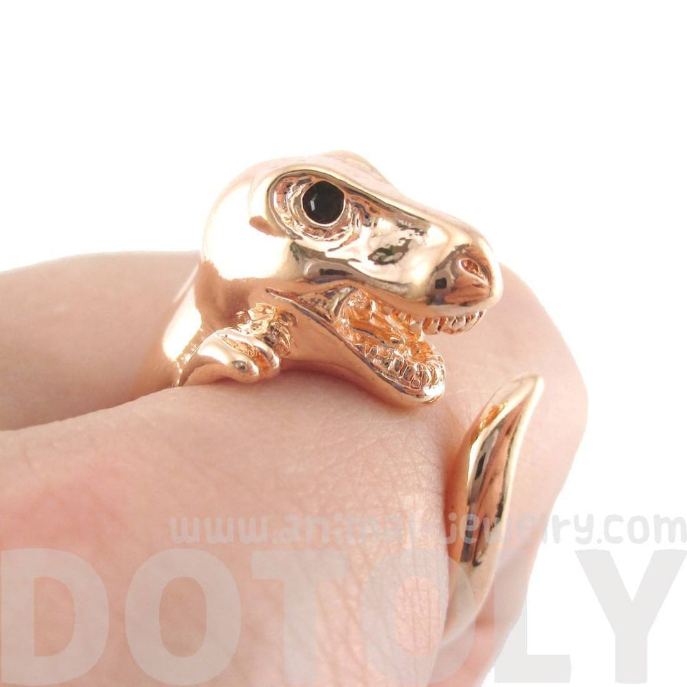 Dinosaur T-Rex Prehistoric Animal Ring in Shiny Copper
