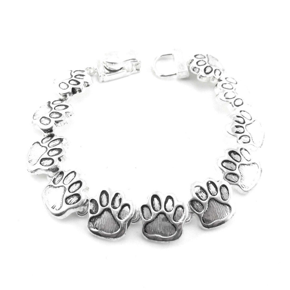 Doggy Paw Prints Shaped Charm Bracelet with Magnetic Clasp | DOTOLY