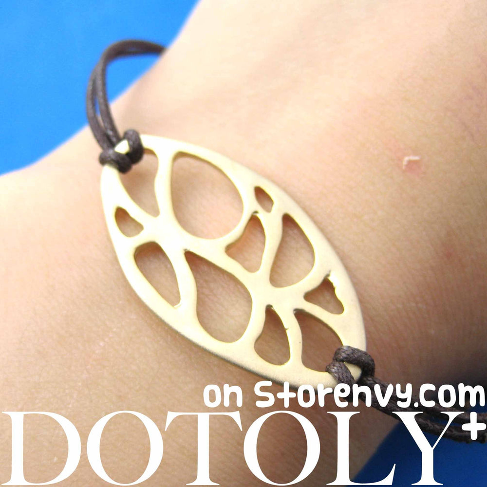 Unique Leaf Cut Out Shaped Bracelet in Gold | DOTOLY | DOTOLY
