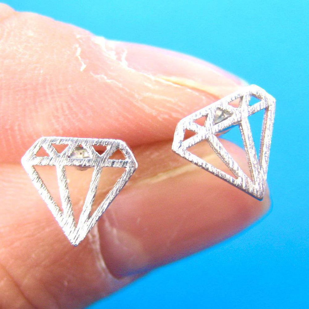 open buy stud set diamond shape geometric shaped products earrings pear white gold