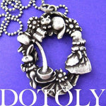 Alice in Wonderland Inspired Kitty Cat Bunny Rabbit and Teacup Necklace | DOTOLY