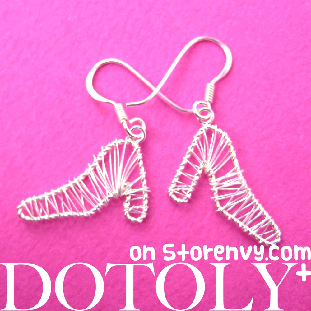 Fashion Themed High Heel Shoes Dangle Earrings in Sterling Silver | DOTOLY