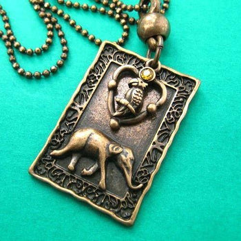 elephant-parrot-animal-charm-necklace-in-bronze-with-rhinestone