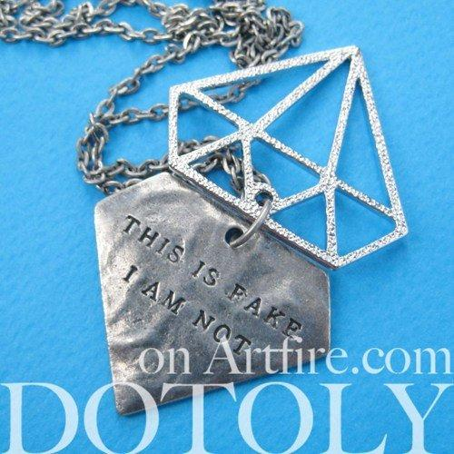diamond-shaped-this-is-fake-i-am-not-charm-necklace-in-silver