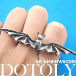 Adjustable Bat Shaped Double Duo Finger Animal Ring in Silver | DOTOLY | DOTOLY
