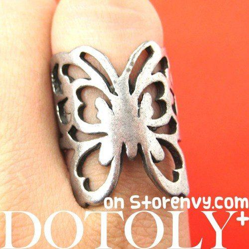 Butterfly Wrap Animal Ring with Cut Out Details - Size 6.5 ONLY | DOTOLY