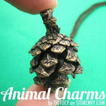 SALE: 3D Realistic Pinecone Pendant Necklace in Bronze | DOTOLY
