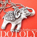 Happy Elephant Pendant Necklace in Silver | Animal Jewelry | DOTOLY