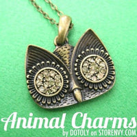 Simple Owl Animal Pendant Necklace in Bronze with Rhinestones on SALE | DOTOLY