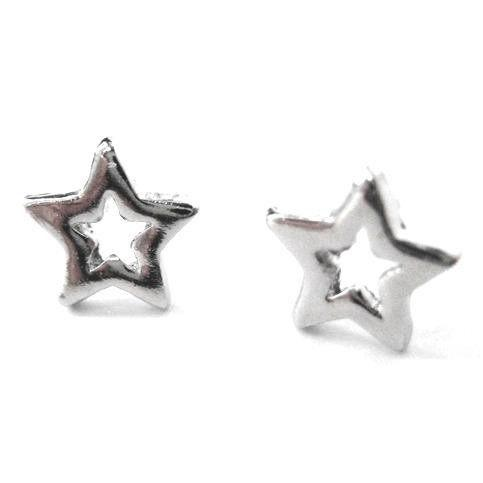 Universe Themed Star Shaped Stud Earrings in Silver | DOTOLY | DOTOLY