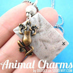 SALE Frog Toad Animal Pendant Necklace | Animal Jewelry | DOTOLY