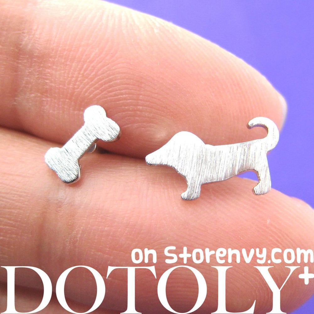 puppy-dog-and-bone-animal-stud-earrings-silver