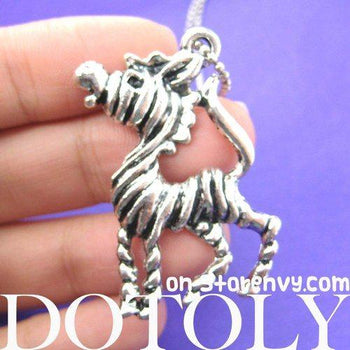 Zebra Horse Pendant Necklace in Silver | Animal Jewelry | DOTOLY
