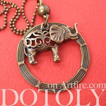 elephant-animal-hoop-round-pendant-necklace-in-bronze