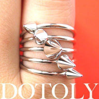 Spiked Studded Rocker Chic Ring in Silver Size 6.5 | DOTOLY | DOTOLY