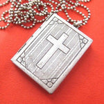 Bible Cross Shaped Locket Pendant in Silver | DOTOLY | DOTOLY