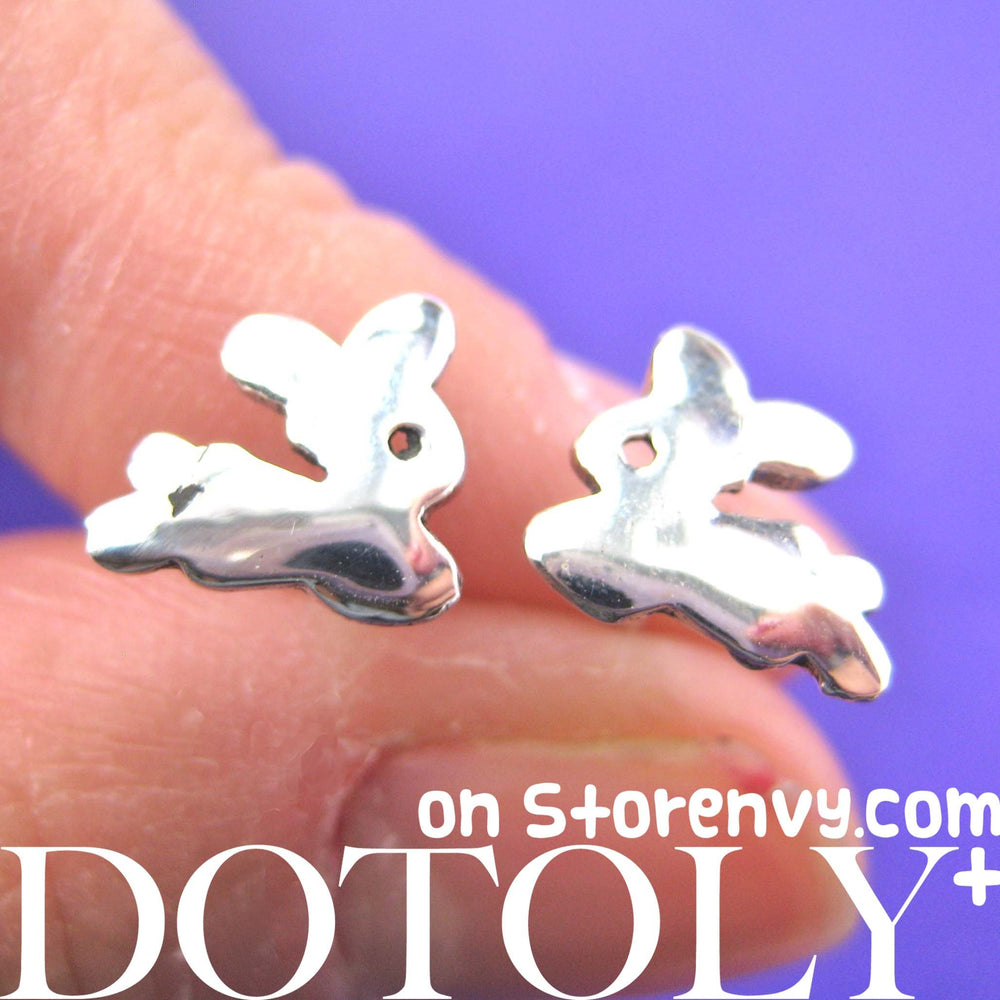 Bunny Rabbit Animal Stud Earrings in Sterling Silver | DOTOLY | DOTOLY