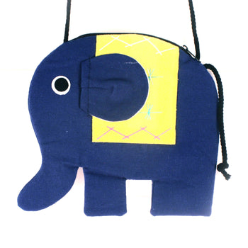 elephant-shaped-animal-shoulder-bag-in-dark-blue-and-yellow