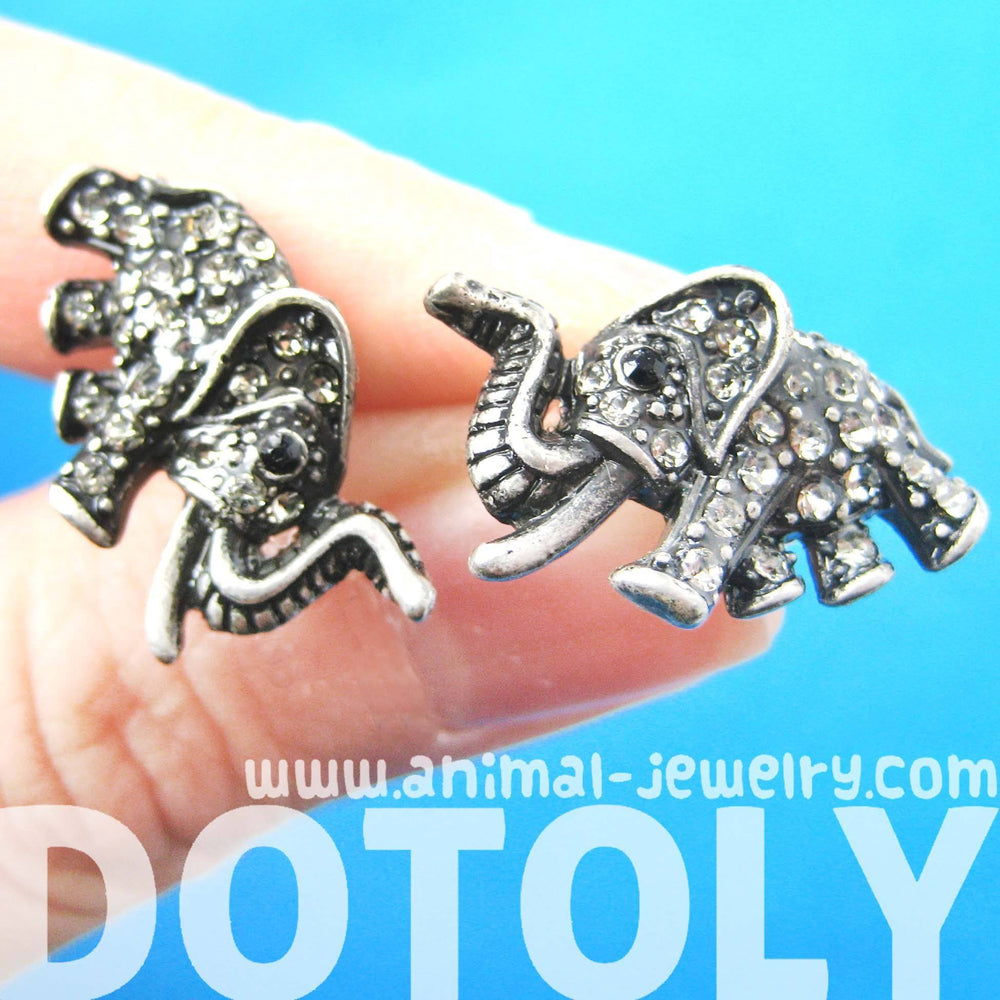 elephant-shaped-animal-stud-earrings-in-silver-with-white-rhinestones