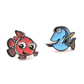 Finding Dory and Nemo Fish Shaped Stud Earrings | DOTOLY | DOTOLY