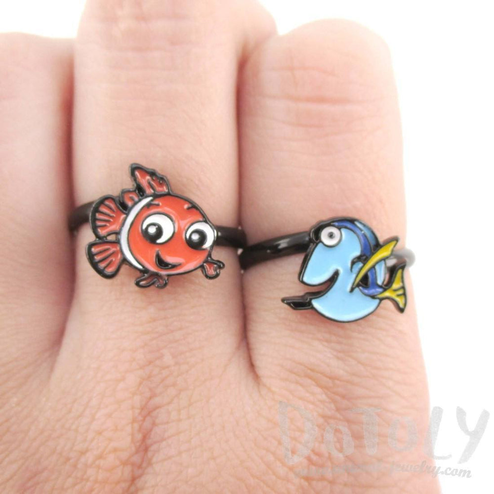 Finding Dory Blue Tang Fish Shaped Adjustable Ring | DOTOLY | DOTOLY