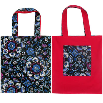 Kaleidoscope Mandala Floral Print Reversible Tote Bags for Women