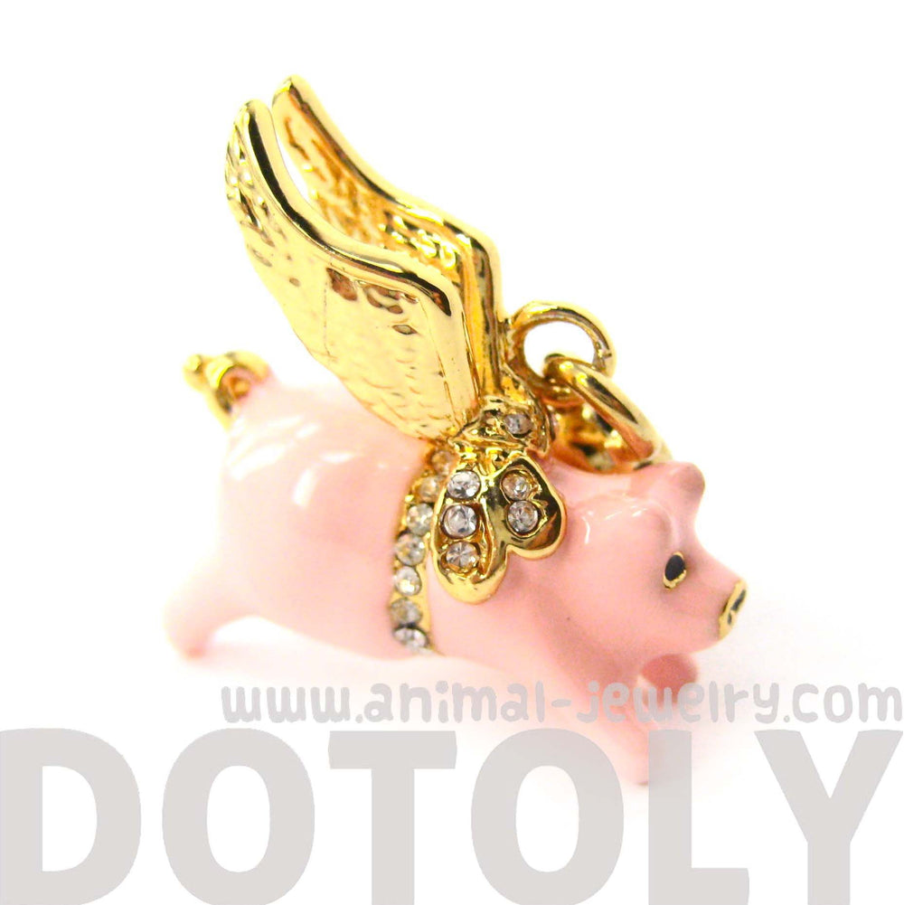 Flying Pig Animal Pendant Necklace | Limited Edition Animal Jewelry | DOTOLY