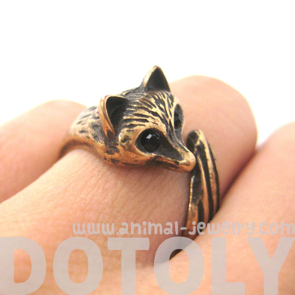 Fox Wolf Shaped Animal Wrap Around Ring in Sizes 5 and 6 | DOTOLY | DOTOLY