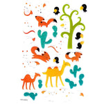 Foxes and Camel Illustrated Animal Shaped Jelly Puffy Stickers for Scrapbooking | DOTOLY