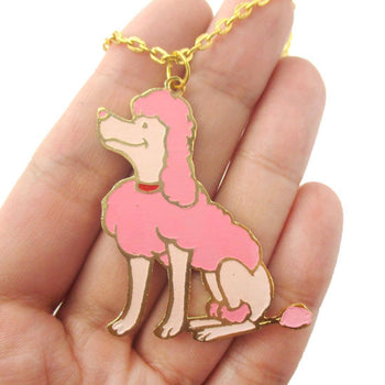 French Poodle Puppy Dog Shaped Animal Pendant Necklace | Limited Edition | DOTOLY