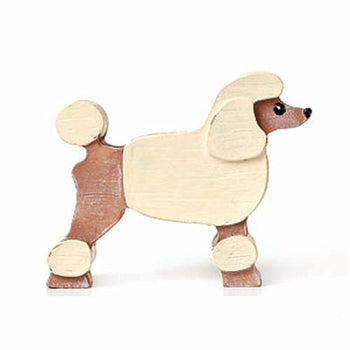 French Poodle Shaped Animal Photo Memo Stand Business Card Holder | Gifts for Dog Lovers | DOTOLY