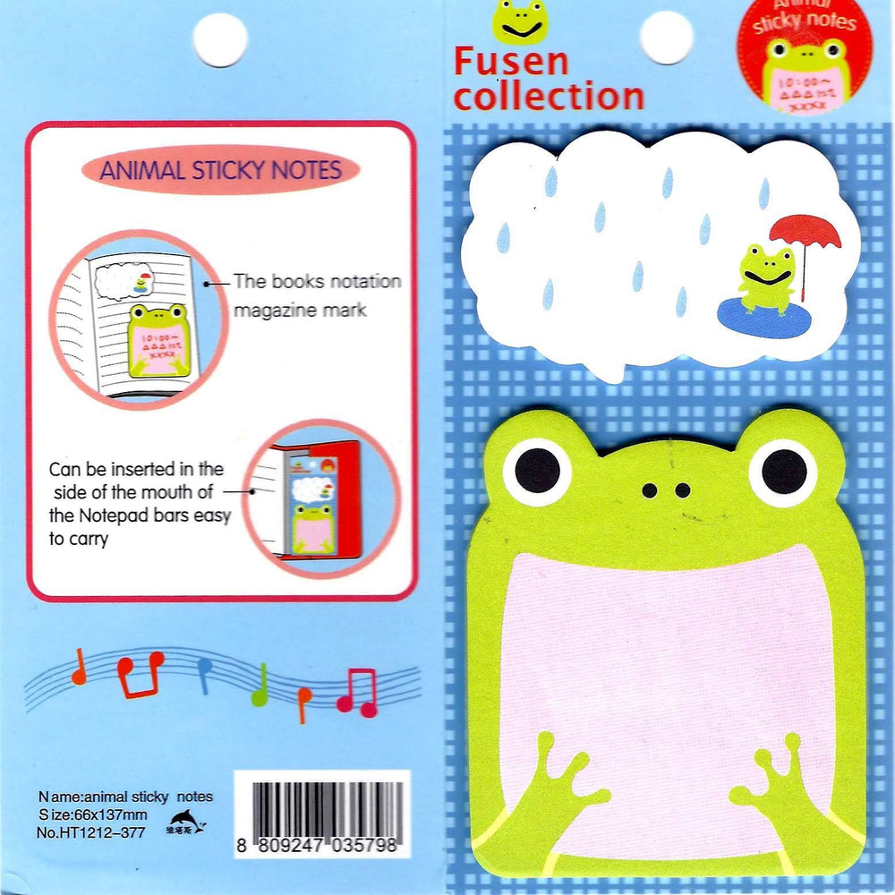 Frog With Big Mouth Animal Themed Memo Sticky Post-it Note Pad | Stationery | DOTOLY