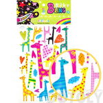 Funky Patterned Giraffe Shaped Animal Jelly Stickers for Scrapbooking and Decorating | DOTOLY