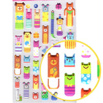 Funny Animal Bear Frog Mouse Pig Shaped Puffy Stickers for Scrapbooking | DOTOLY
