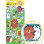 Funny Brown Bear and Bunnies Animal Shaped Super Spongy Stickers for Scrapbooking | DOTOLY