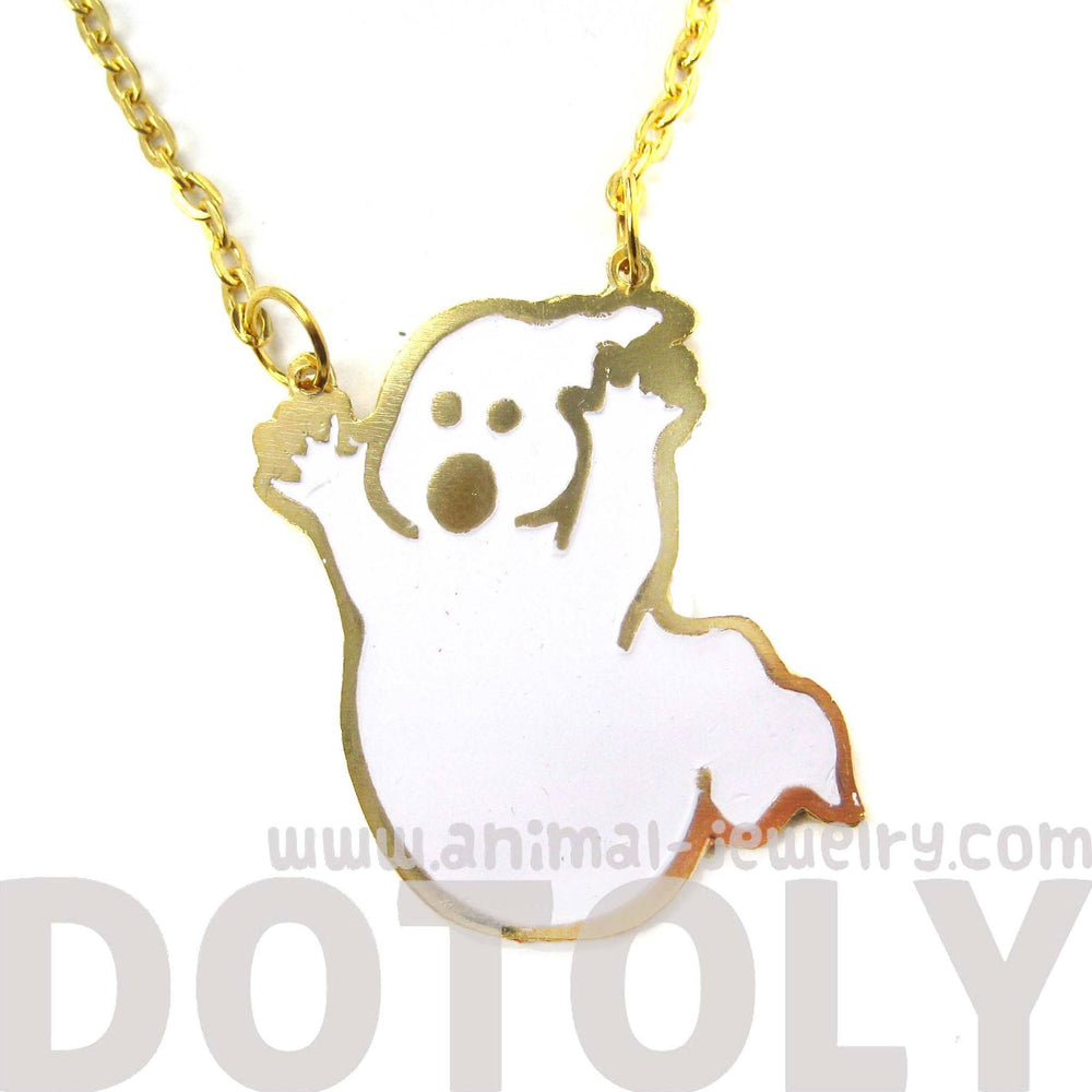 Ghostbusters Ghost Logo Shaped Pendant Necklace | Limited Edition | DOTOLY