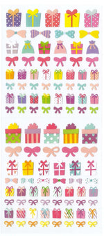 Gift Box Present and Bow Tie Stickers for Scrapbooking and Packaging | DOTOLY