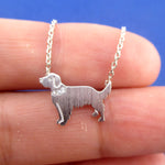 Golden Retriever Dog Shaped Pendant Necklace in Silver | Gifts for Dog Lovers