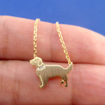 Golden Retriever Dog Shaped Pendant Necklace in Gold | Gifts for Dog Lovers