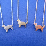 Golden Retriever Dog Shaped Pendant Necklace | Gifts for Dog Lovers