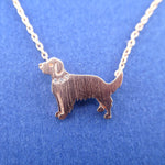 Golden Retriever Dog Shaped Pendant Necklace in Rose Gold | Gifts for Dog Lovers