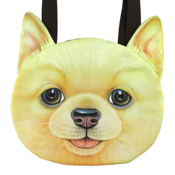 Golden Retriever Puppy Face Shaped Large Shopper Tote Shoulder Bag | Gifts for Dog Lovers | DOTOLY