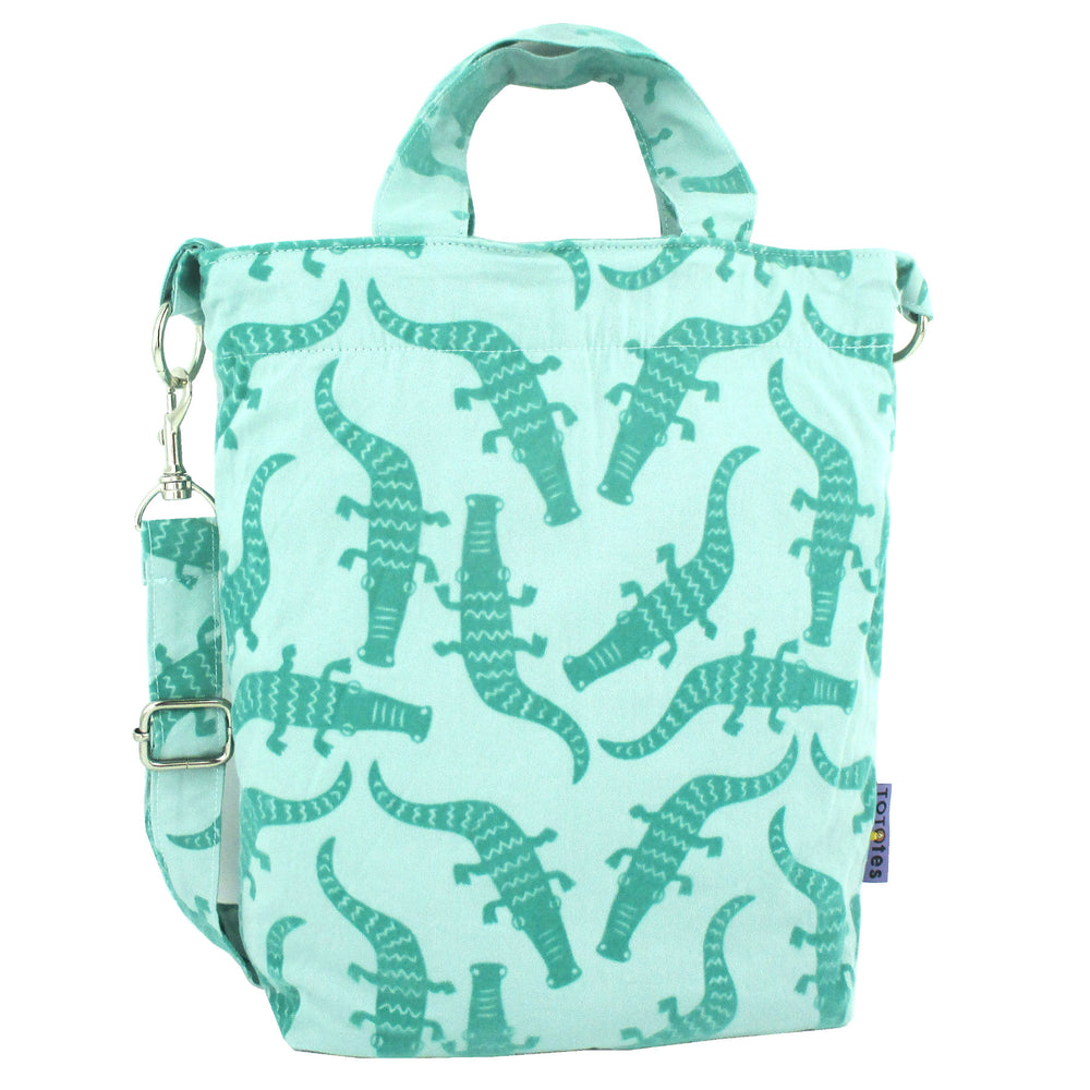 Crocodile Alligator Desert Animal Pattern Crossbody Duck Top Handle Tote Bag