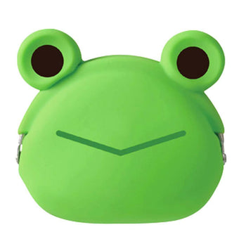 Green Froggy Frog Shaped Mimi Pochi Animal Friends Silicone Clasp Coin Purse Pouch | DOTOLY