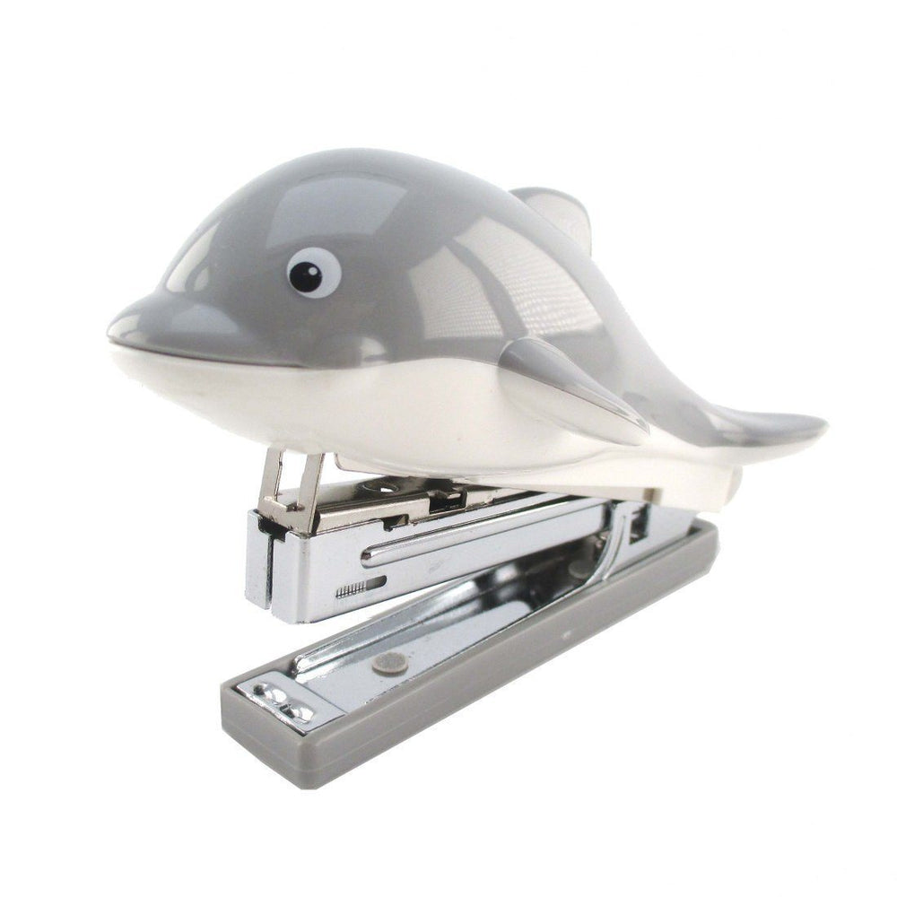 Grey Dolphin Shaped Office Stapler | Cute Stationery Supplies