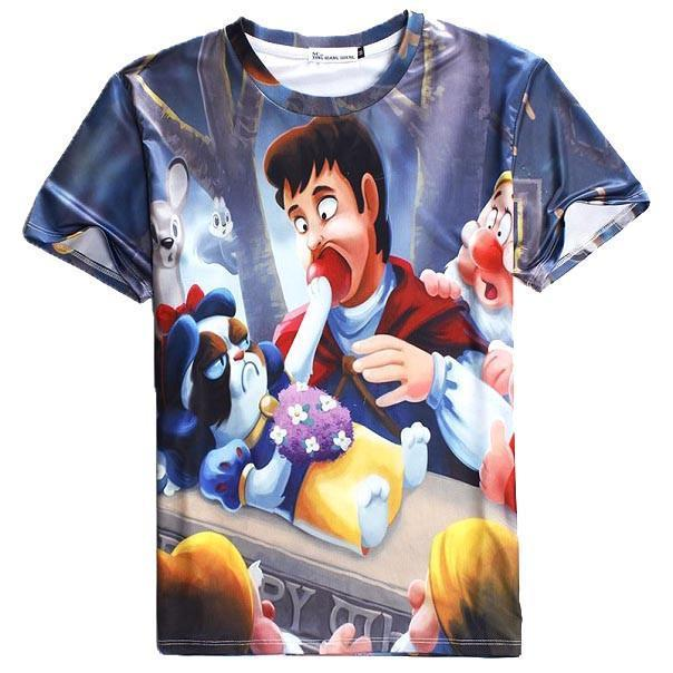 Grumpy Cat as Snow White Disney Princess All Over Print Graphic Tee | DOTOLY